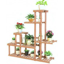 Portavaso in Legno fioriera piante 106x25x97 cm giardino fiori vasi multi ripiani veranda