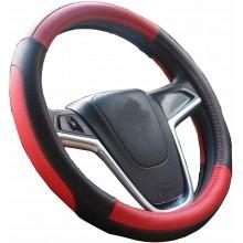 Coprivolante auto universale simil pelle fodera volante Rosso MAX 38 cm tuning