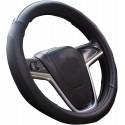 Coprivolante auto universale simil pelle fodera volante Nero MAX 38 cm tuning