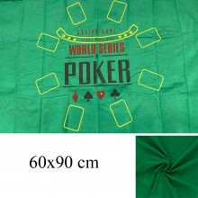 Copritavolo Poker panno verde gioco da tavola 60x90cm texas hold'em black jack