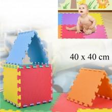 6Pz Tappeto Puzzle per bambini 40x40 cm tappetino Colorato in gomma bimbi gioco