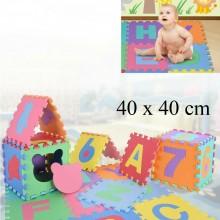 6Pz Tappeto Puzzle per bambini 40x40 cm tappetino VOCALI in gomma bimbi gioco