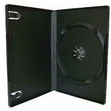 10 custodie per CD DVD vergini singole nere vuote 14mm custodia box