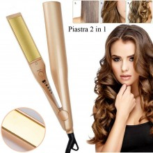 Piastra capelli 2 in 1 Onde ferro arricciacapelli professionale lisci lisciante