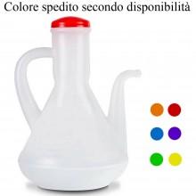 Oliera manuale 0,5L plastica salvagoccia colore dispenser cucina dosatore olio