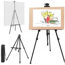 Cavalletto da disegno treppiedi tableau pittura tela alluminino treppiede con custodia