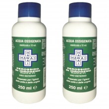 2x Flaconi Acqua ossigenata 250ml 10 vol disinfettante 3% perossido di idrogeno