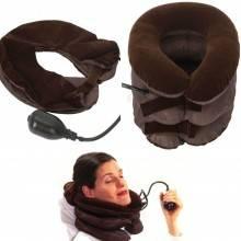 Cuscino cervicale gonfiabile 3 strati per sollievo dolori cervicali muscolari collo, cuscino da viaggio gonfiabile