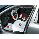 Kit protezione auto 5 in1 coprisedile coprivolante pomello cambio moquette mecca