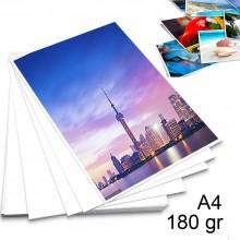 20 Fogli carta fotografica A4 lucida 180gr per stampante foto pellicola adesiva