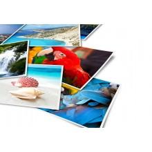 100 Fogli carta fotografica 13x18 lucida 180gr stampante foto pellicola adesiva
