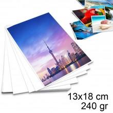 100 Fogli Carta fotografica 13x18 cm lucida 240gr stampante pellicola adesiva