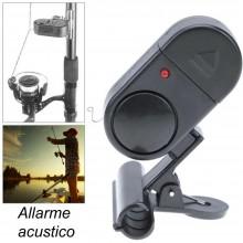 Allarme acustico per canna da pesca sportiva avvisatore LED pinza molla
