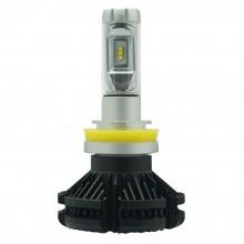 Coppia lampade ricambio auto LED 7S H11 bianco 6000K fari 50W lampadine veicoli