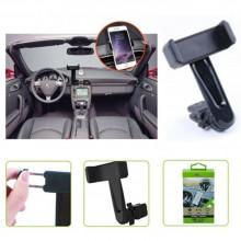 Supporto da auto per smartphone clip cellulare rotazione 360 gradi SP-012 55-75