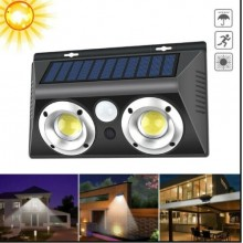 Lampada ad induzione Led COB 20W faretto pannello solare IP65 sensore infrarossi