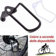 Gancio per protezione deragliatore trasmissione bici posteriore acciaio catena