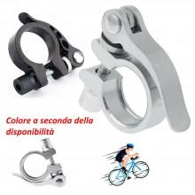 Sgancio rapido sellino bici bloccaggio pinza morsetto regolabile alluminio sport