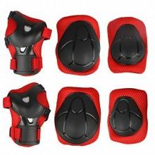 Set protezione ginocchiere paragomiti parapolsi sport cinghie regolabili sport