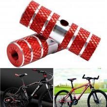 Pedane bici poggiapiedi asse anteriore posteriore ciclismo 6 x 2,3 cm accessori