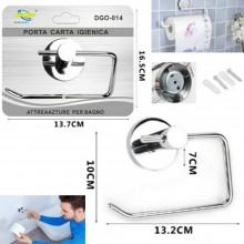 Porta rotolo carta igienica bagno fissaggio a vite acciaio lucido porta rotolo