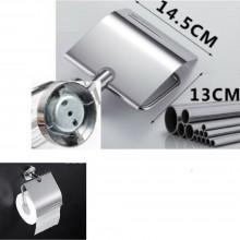 Porta carta igienica porta rotolo montaggio a muro acciaio 14.5 x 13 cm bagno wc