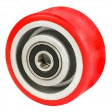 Rotella ruota ricambio carrello trasporto poliuretano e acciaio ultra scorrevoli