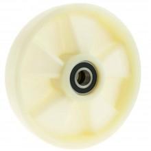 Ruota nylon acciaio rotella ricambio ultrascorrevole fai da te ferramenta casa
