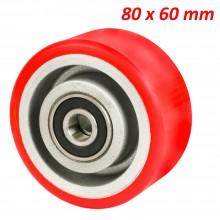 4 Rotelle ruote poliuretano acciaio carrelli ultra scorrevoli pavimento ricambio