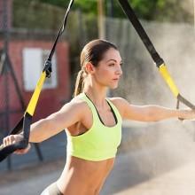 Kit ginnastica sospensione gancio sport potenziamento allenamento fitness 270cm