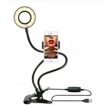 Lampada anello Led selfie live streaming video foto flessibile supporto pinza