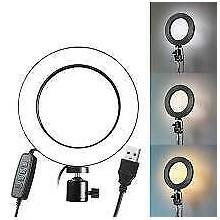Lampada ad anello luce 30 cm telefono video selfie streaming illuminazione a led