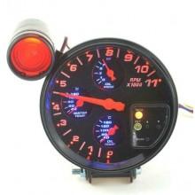Contagiri universale 4 in 1 tachimetro pressione temperatura olio acqua misura