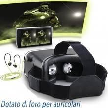 """VR 3d Occhiale visore versione 2.0 per realtà virtuale compatibile con smartphone iOS e Android da 3,5"""" a 6"""""""