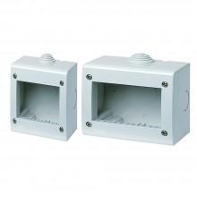 2x Custodia tenuta stagna 2 o 3 Moduli IP40 compatibile con interruttore prese