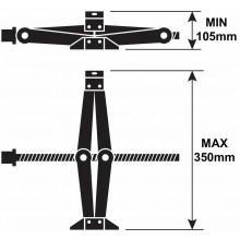 Crick pantografo sollevatore auto ruote manuale crik emergenza 1T 1000kg viaggio