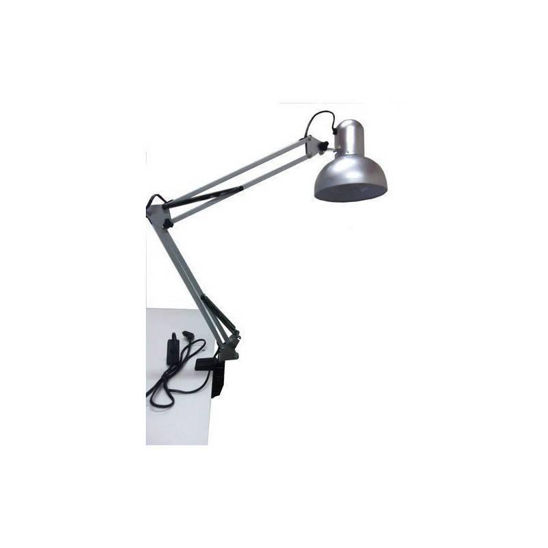 LAMPADA DA TAVOLO PROFESSIONALE CON MORSETTA STILE ARCHITETTO ATTACCO E27 COLORE NERO