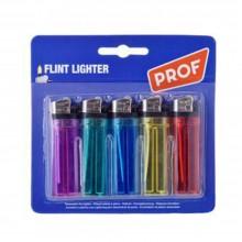 5 Accendini monouso trasparente colorato sicurezza bambini fiamma regolabile