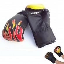 Guanti boxe fuoco bambini box sport lotta allenamento fascia avvolgente guantoni