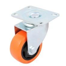 2x Rotelle porta carrello acciaio ultra scorrevoli mobili staffa girevole ruote