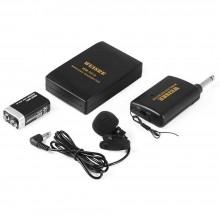 Microfono wireless radiomicrofono senza fili professionale VHF ricevitore WM-101