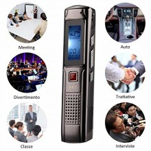 Registratore vocale digitale 8 gb mp3 ricaricabile voice recorder mini usb voce