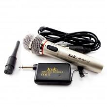 Microfono dinamico ricevitore wireless senza cavo karaoke musica unidirezionale