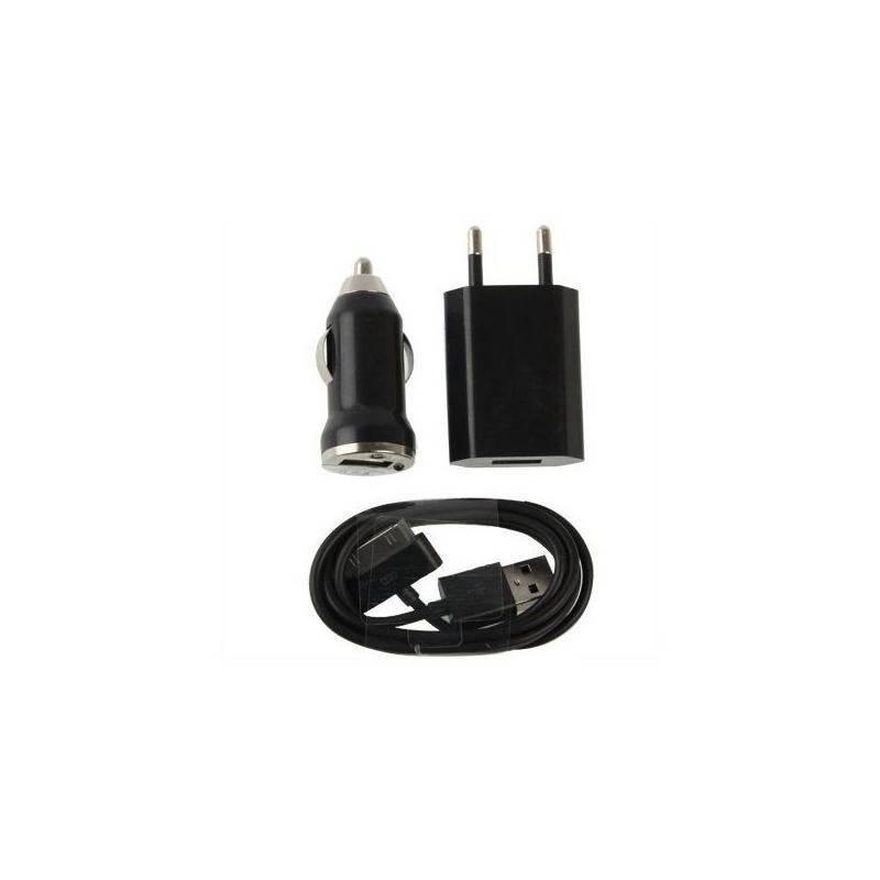 Kit caricabatteria 3 in 1 RETE / AUTO / CAVO per smartphone con presa Micro USB