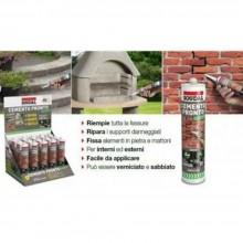 Cemento express sigillante pronto all'uso grigio 300ml extra resistente soudal