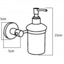 Dispenser sapone supporto a parete distributore cromato installazione bagno casa