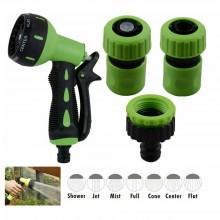 Pistola acqua spruzzo multi getto 7 modalità irrigazione giardino 3 adattatori