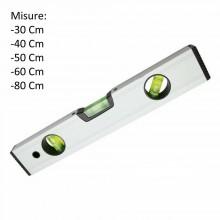 Livella a bolla professionale 30/40/50/60/80 cm 3 bolle trasparente magnetica
