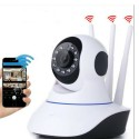 Telecamera camera ip wifi 3 antenne HD wireless H264 led infrarossi sorveglianza