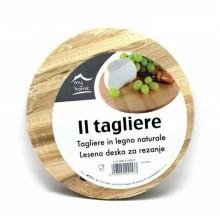 Tagliere tondo in legno naturale cucina portata verdure carne servire aperitivo